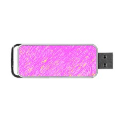 Pink pattern Portable USB Flash (One Side)