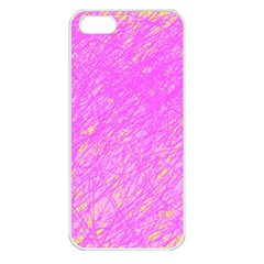 Pink pattern Apple iPhone 5 Seamless Case (White)