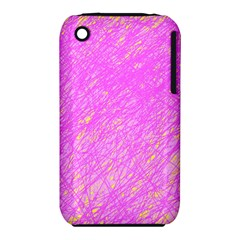 Pink pattern Apple iPhone 3G/3GS Hardshell Case (PC+Silicone)