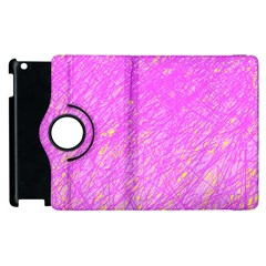 Pink pattern Apple iPad 2 Flip 360 Case
