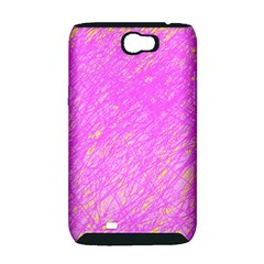 Pink pattern Samsung Galaxy Note 2 Hardshell Case (PC+Silicone)