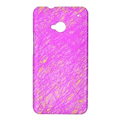 Pink pattern HTC One M7 Hardshell Case