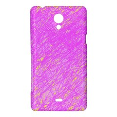 Pink pattern Sony Xperia T