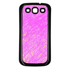 Pink pattern Samsung Galaxy S3 Back Case (Black)