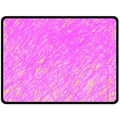 Pink pattern Double Sided Fleece Blanket (Large)