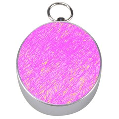 Pink pattern Silver Compasses