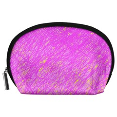 Pink pattern Accessory Pouches (Large)