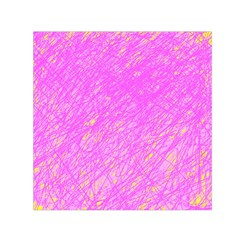 Pink pattern Small Satin Scarf (Square)