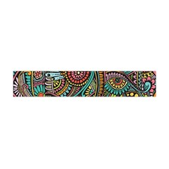 Colorful Hippie Flowers Pattern, Zz0103 Flano Scarf (mini)