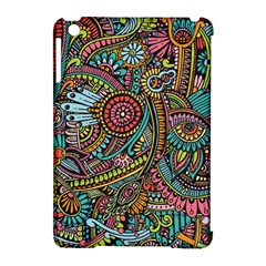 Colorful Hippie Flowers Pattern, zz0103 Apple iPad Mini Hardshell Case (Compatible with Smart Cover)