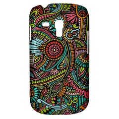 Colorful Hippie Flowers Pattern, zz0103 Samsung Galaxy S3 MINI I8190 Hardshell Case