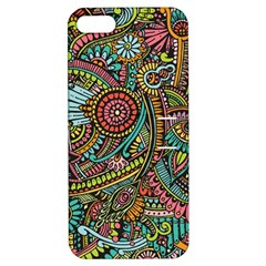 Colorful Hippie Flowers Pattern, zz0103 Apple iPhone 5 Hardshell Case with Stand