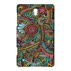 Colorful Hippie Flowers Pattern, zz0103 Samsung Galaxy Tab S (8.4 ) Hardshell Case