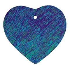 Blue pattern Ornament (Heart)