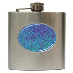 Blue pattern Hip Flask (6 oz)