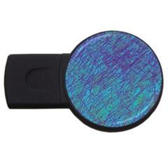Blue pattern USB Flash Drive Round (2 GB)