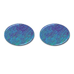 Blue pattern Cufflinks (Oval)