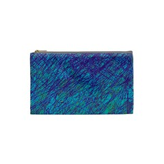 Blue pattern Cosmetic Bag (Small)