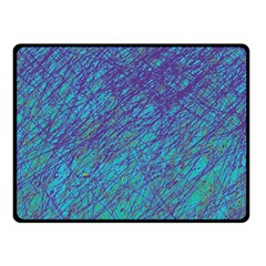 Blue pattern Fleece Blanket (Small)