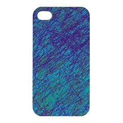 Blue pattern Apple iPhone 4/4S Hardshell Case