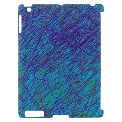 Blue pattern Apple iPad 2 Hardshell Case (Compatible with Smart Cover)