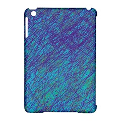 Blue pattern Apple iPad Mini Hardshell Case (Compatible with Smart Cover)