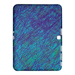 Blue pattern Samsung Galaxy Tab 4 (10.1 ) Hardshell Case
