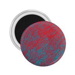 Red and blue pattern 2.25  Magnets