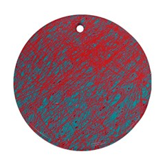 Red and blue pattern Ornament (Round)