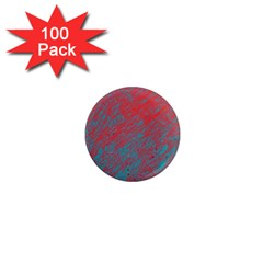 Red and blue pattern 1  Mini Magnets (100 pack)