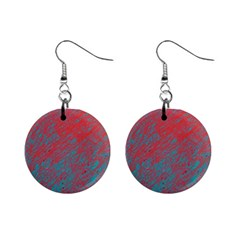 Red and blue pattern Mini Button Earrings