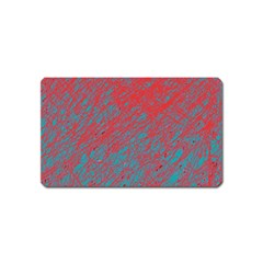 Red and blue pattern Magnet (Name Card)