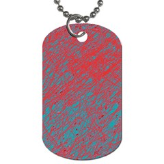 Red and blue pattern Dog Tag (One Side)