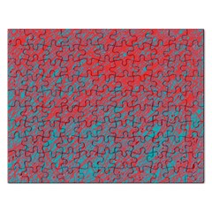 Red and blue pattern Rectangular Jigsaw Puzzl