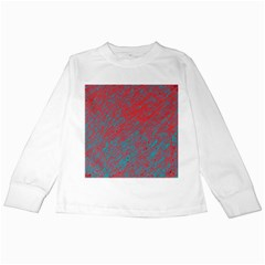 Red and blue pattern Kids Long Sleeve T-Shirts