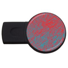 Red and blue pattern USB Flash Drive Round (4 GB)