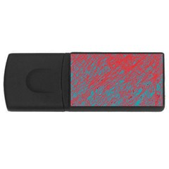 Red and blue pattern USB Flash Drive Rectangular (4 GB)