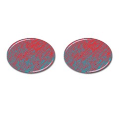 Red and blue pattern Cufflinks (Oval)