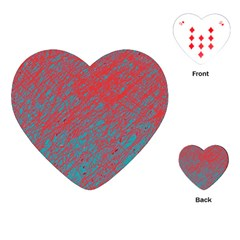 Red and blue pattern Playing Cards (Heart)