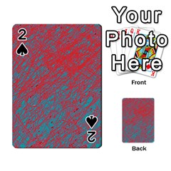 Red and blue pattern Playing Cards 54 Designs