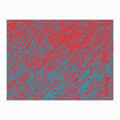 Red and blue pattern Collage Prints