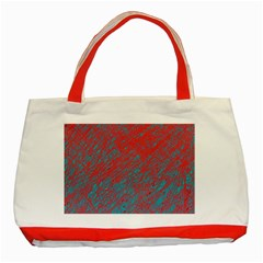 Red and blue pattern Classic Tote Bag (Red)