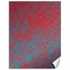 Red and blue pattern Canvas 12  x 16