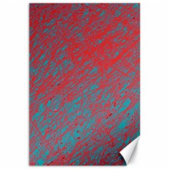 Red and blue pattern Canvas 12  x 18