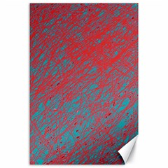 Red and blue pattern Canvas 24  x 36