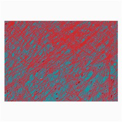 Red and blue pattern Large Glasses Cloth