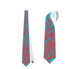 Red and blue pattern Neckties (Two Side)