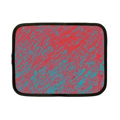 Red and blue pattern Netbook Case (Small)