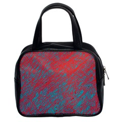 Red and blue pattern Classic Handbags (2 Sides)