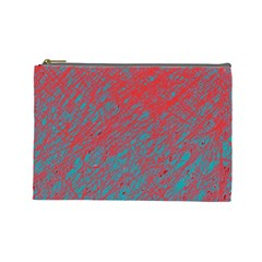 Red and blue pattern Cosmetic Bag (Large)